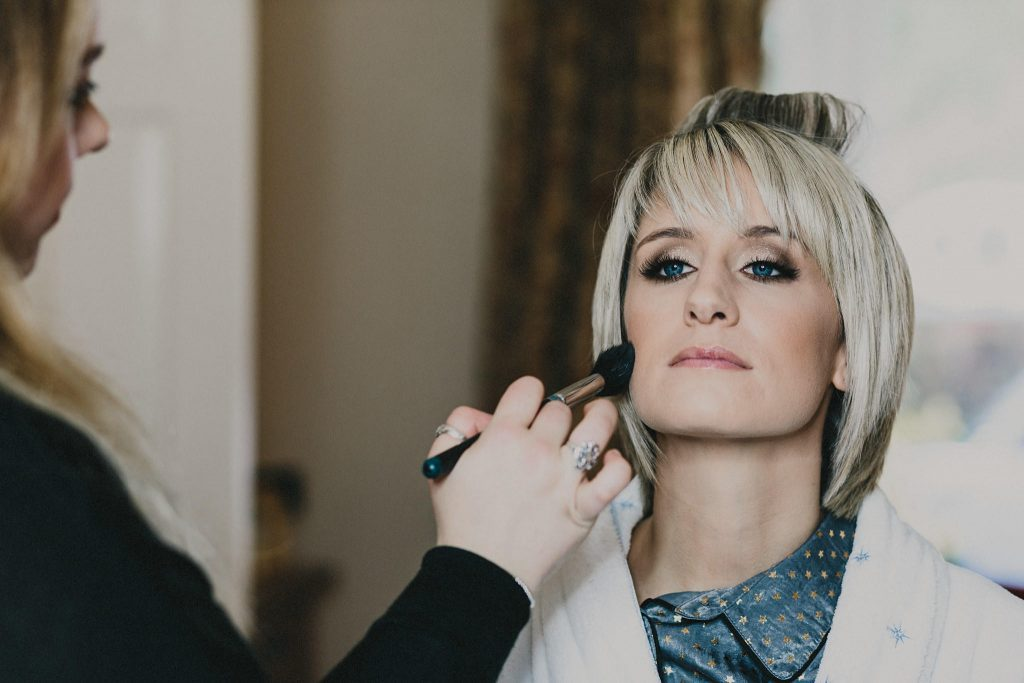 Headlam Hall wedding makeup